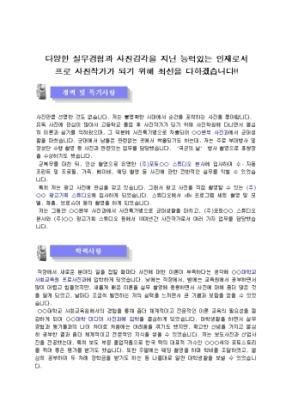 사진작가 자기소개서(광고, 홍보)_경력 상세 미리보기 1페이지