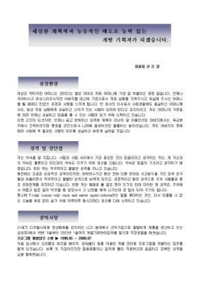 개발기획 자기소개서(전자)_경력 상세 미리보기 1페이지