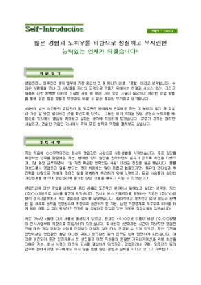 영업관리 자기소개서(외주)_경력 상세 미리보기 1페이지