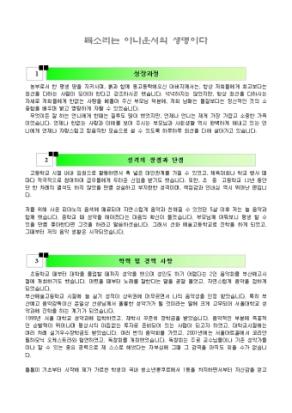 아나운서 자기소개서(성악과)_신입 상세 미리보기 1페이지