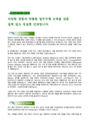 데이터베이스 관리 자기소개서_경력 상세 미리보기 1페이지