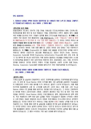 만도 품질관리 자기소개서 01 상세 미리보기 1페이지