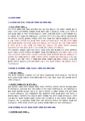 소니코리아 마케팅 자기소개서 상세 미리보기 1페이지