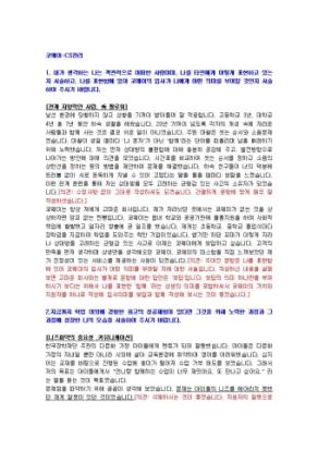 코웨이 CS관리 자기소개서 상세 미리보기 1페이지