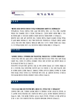 철강생산 자기소개서(동국제강)_신입 상세 미리보기 1페이지