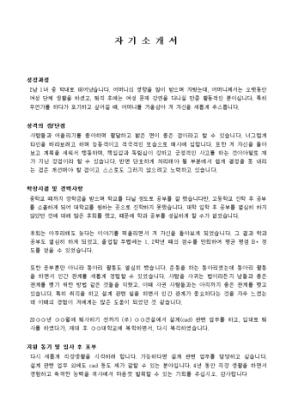 캐드 자기소개서_경력 상세 미리보기 1페이지