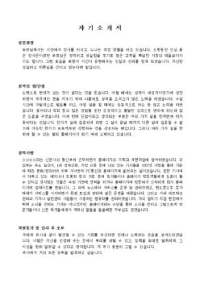 정보검색 자기소개서_경력 상세 미리보기 1페이지